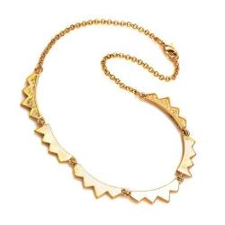 CC SKYE 立體鋸齒造型 金色 造型項鍊 附原廠 禮物盒