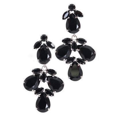 【Aimee Toff】韓國原單晶鑽花朵美體時尚耳環(2色)