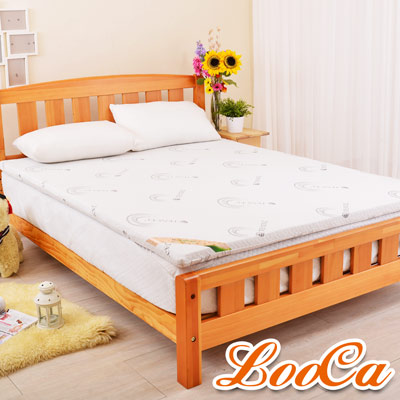 LooCa 天絲竹炭5cm天然乳膠床墊-加大6尺