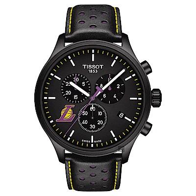 TISSOT天梭 CHRONO XL NBA 湖人隊特別版計時錶-45mm