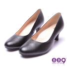 【ee9】芯滿益足-簡約優雅通勤私藏經典百搭素面跟鞋*黑色
