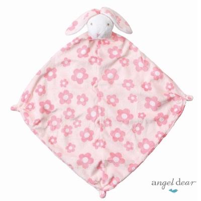 美國 Angel Dear 動物嬰兒安撫巾(花花小兔)