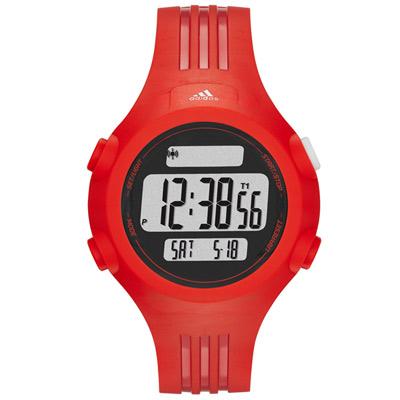 adidas Performance 勁戰狙擊大面板電子腕錶-紅/40mm