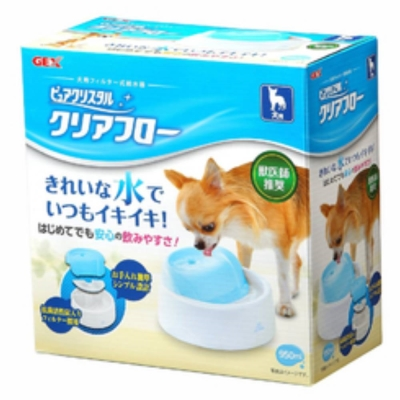 GEX 愛犬 圓滿平安飲水器《藍》950ml