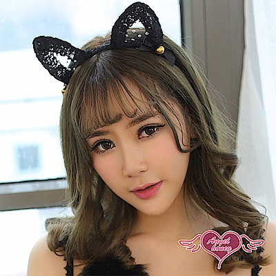貓耳髮箍 魅惑喵喵 日系蕾絲可愛動物道具配件(黑F) AngelHoney天使霓裳