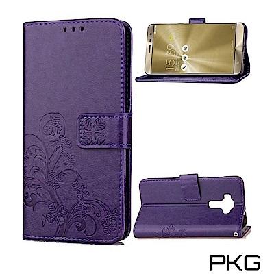 PKG 華碩Zenfone3 5.5吋 ZE552K 側翻式皮套-精選皮套系列-...