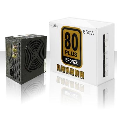 蛇吞象 80PLUS黑化系列 GPK-650W (銅牌/12CM靜音風扇/5年免費)