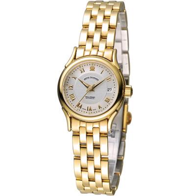 梭曼 Revue Thommen 華爾街系列時尚女用機械錶-金色/25mm