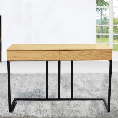 AT HOME-菁英4尺栓木本色二抽書桌