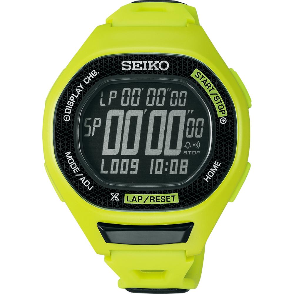 SEIKO PROSPEX Runner 運動玩家電子腕錶(SBEG005J)-綠/47mm