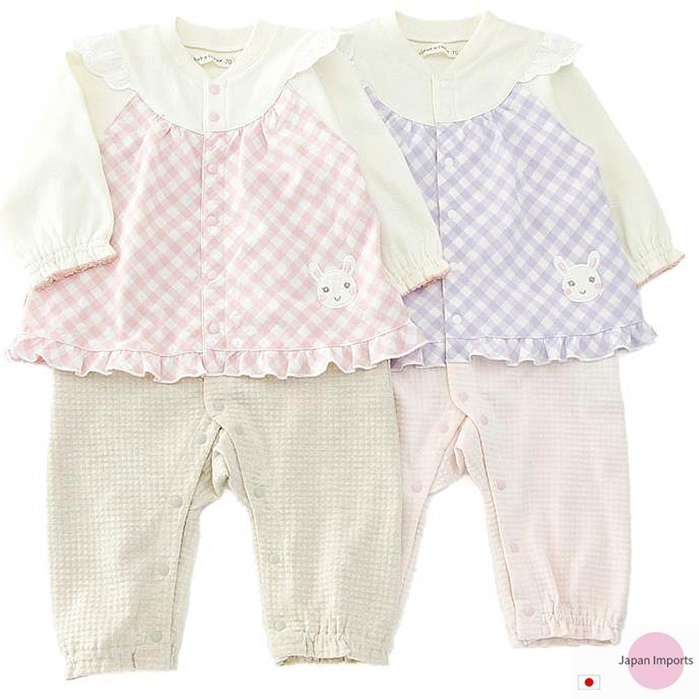 Japan Imports 小兔假兩件長袖連身裝