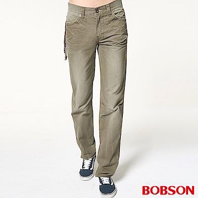 BOBSON 男款中直筒色褲