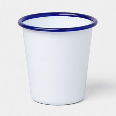 Falcon英國 獵鷹琺瑯 藍白水杯 310ml
