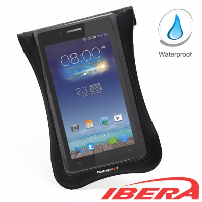 IBERA 智慧型5吋~5.8吋專用防水手機袋(黑)