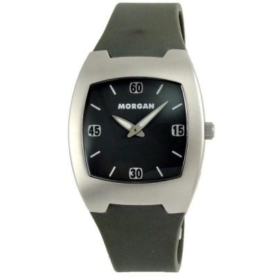 MORGAN 潮流精選運動風時尚腕錶-墨綠/35mm