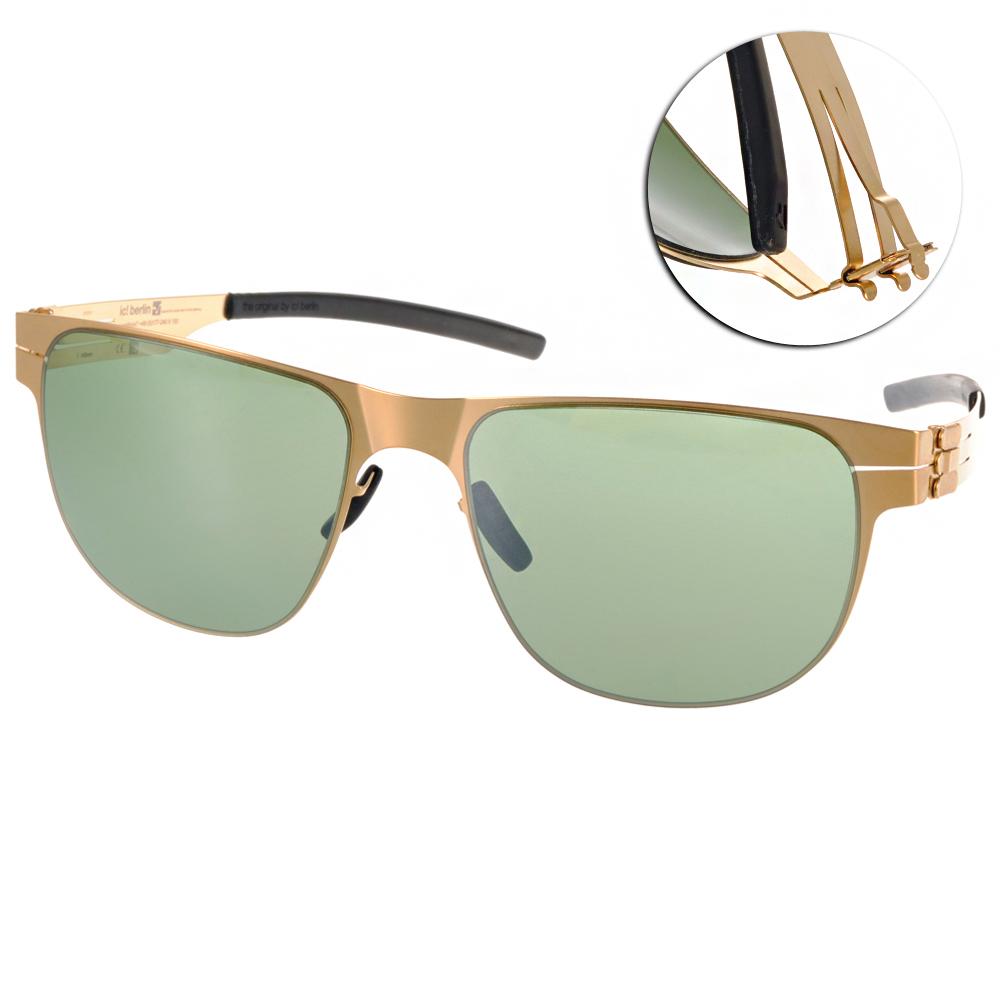 ic!berlin太陽眼鏡 薄鋼代表作/金#ULI E. MATT GOLD