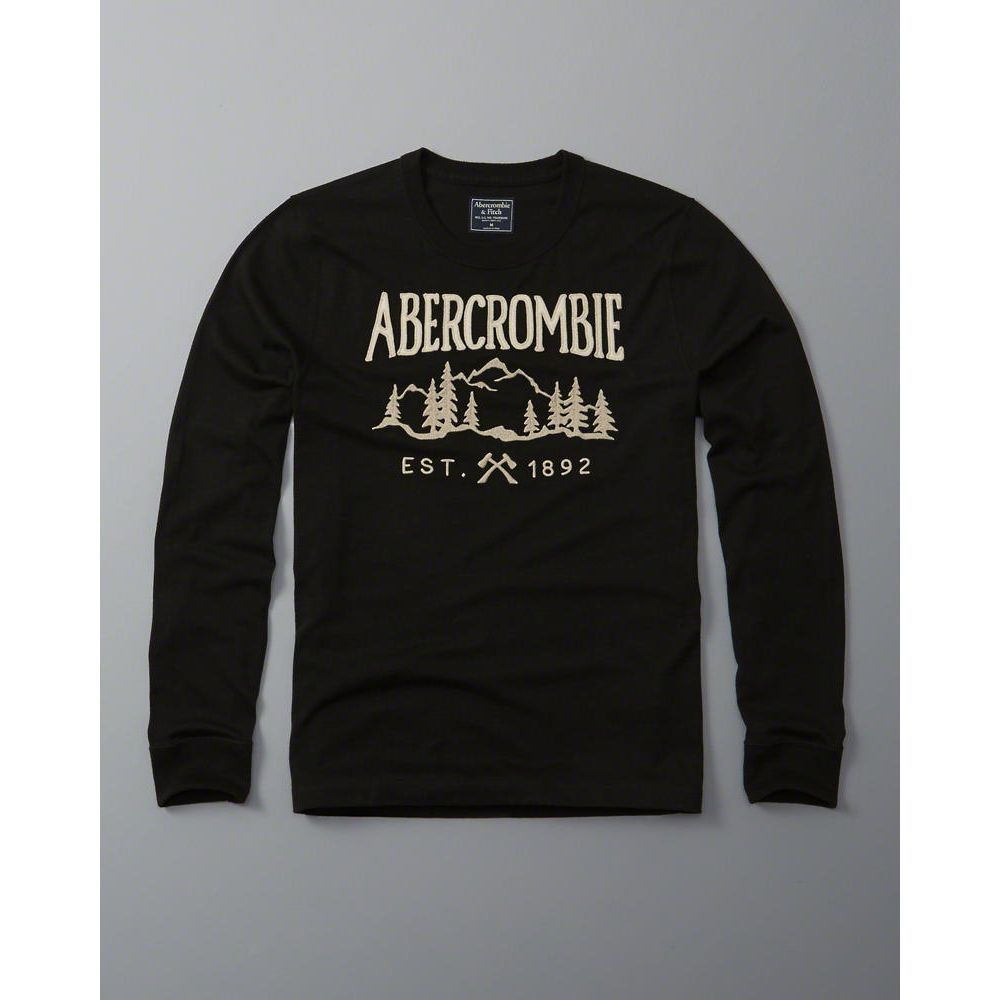 AF a&f Abercrombie & Fitch 長袖 T恤 黑色