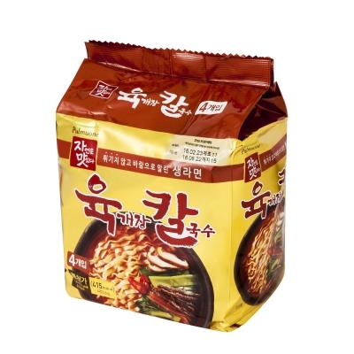 韓味不二 pulmuone 辣牛肉刀切麵(120.9gx4)