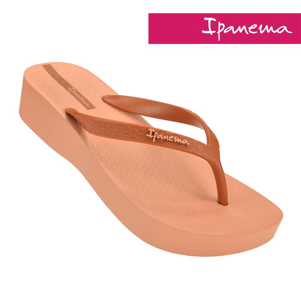 IPANEMA 女 心機原色楔型厚底拖鞋-粉