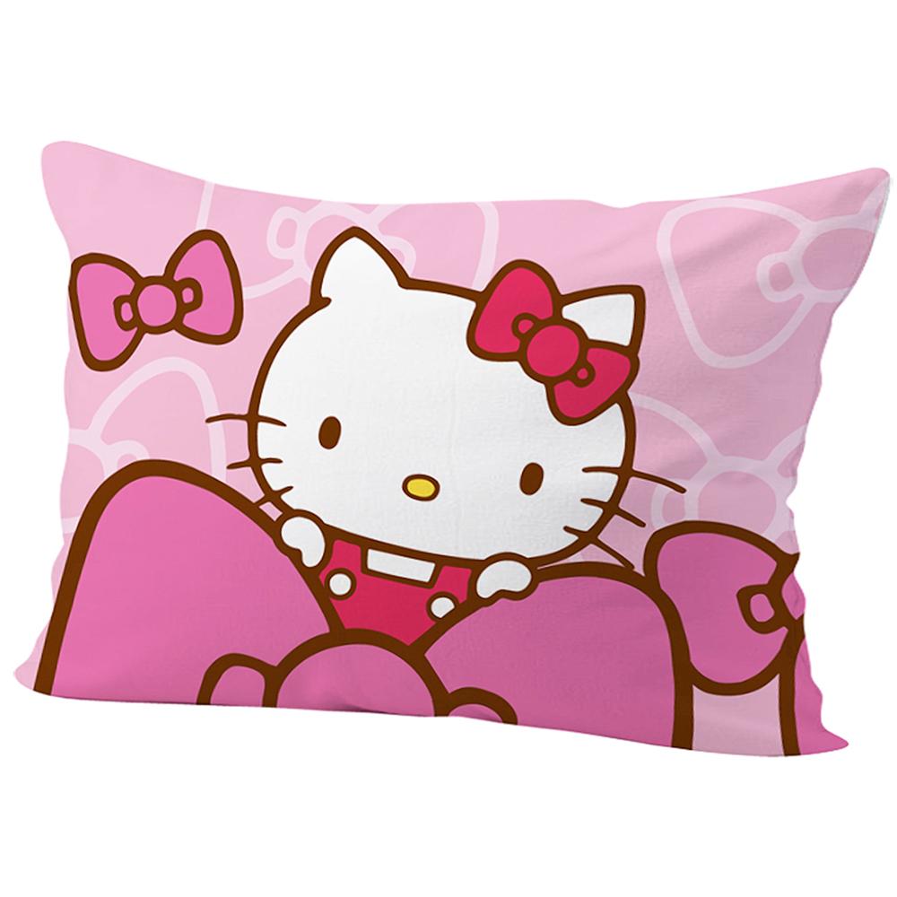 HELLO KITTY 蝴蝶結毛巾被+精梳棉午安枕(隨機)