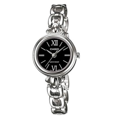 CASIO 獨領風采時尚指針造型鍊帶錶(LTP-1384D-1B)黑/25mm