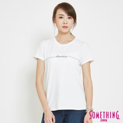 SOMETHING-愛心LOGOT恤-女-白色