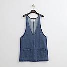 Hang Ten - 女裝 - 吊帶丹寧洋裝-藍色