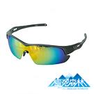 極地森林 TAC寶麗萊偏光鏡片電鍍REVO橘運動太陽眼鏡(7903)