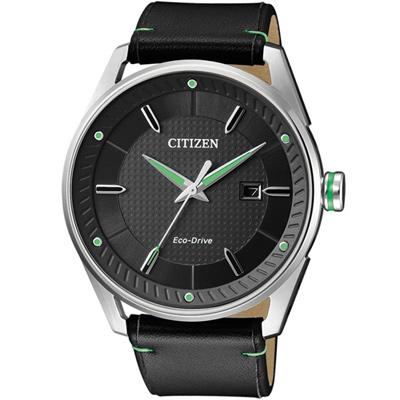 CITIZEN-時尚光動能商務腕錶-BM6981