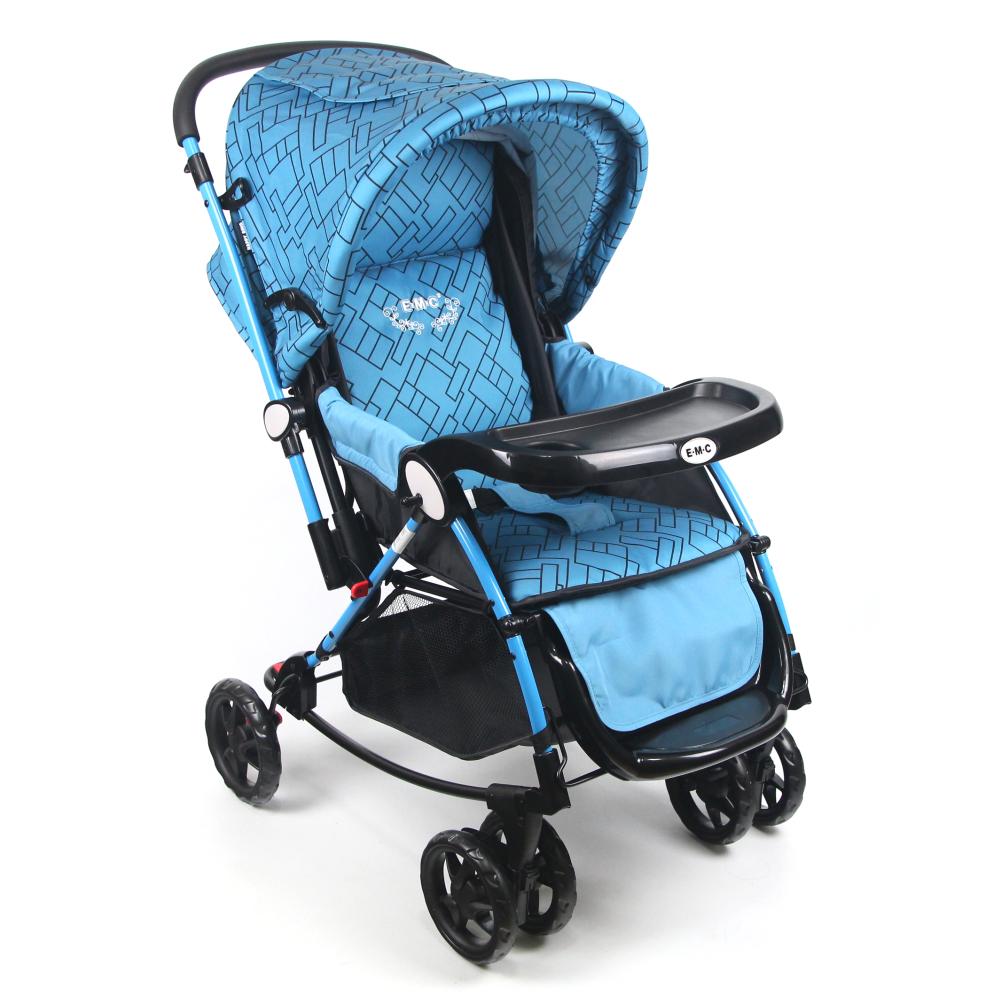 【EMC】法式三用高級推車-藍色