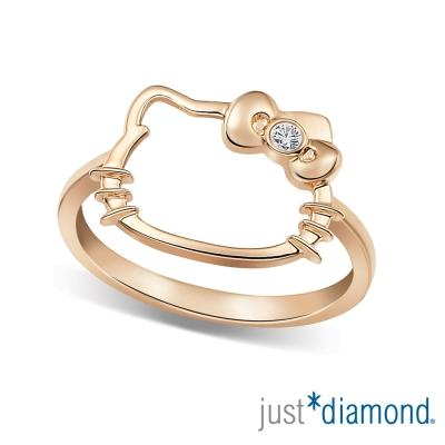 Just Diamond 18K玫瑰金鑽石戒指-愛戀貓語
