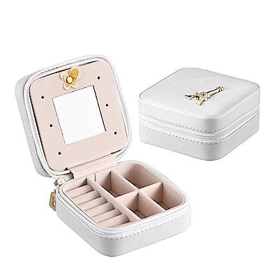 梨花HaNA 閨蜜的旅行攜帶型皮革飾品珠寶收納盒 @ Y!購物