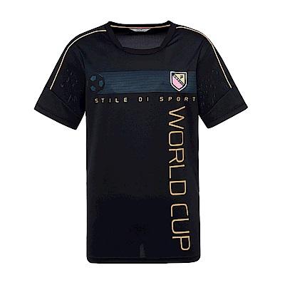 FILA 男抗UV吸濕排汗T恤-黑 1TES-1500-BK