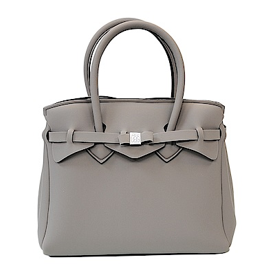 SAVE MY BAG 義大利品牌 MISS系列 棕灰色超輕量手提托特包