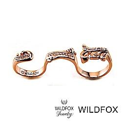 Wildfox Couture 美國品牌 Bold Rococo 洛可可戒指 玫瑰金雙環戒