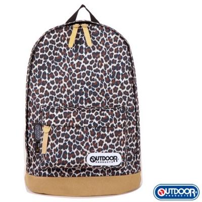 OUTDOOR 豹紋皮底後背包-咖啡 OD65733BB