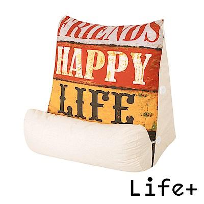 Life Plus Good Day立體舒壓萬用枕/抱枕/腰靠枕 (仿舊字母)