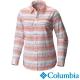 【Columbia哥倫比亞】女-快排防曬50長袖襯衫-銀橘條紋 UAL91380SJ product thumbnail 1