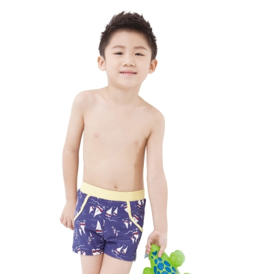 Aquanaut奧可那泳裝 可愛帆船三分泳褲