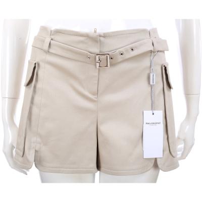 PHILOSOPHY 大口袋設計短褲(卡其色/附腰帶)
