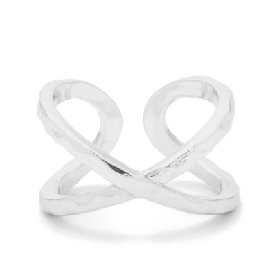 GORJANA 幸運十字 C型手工波浪紋925純銀戒指 可雙面配戴Elea Ring