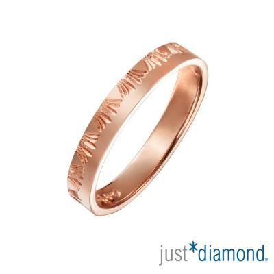 Just Diamond 18K玫瑰金戒指(4mm)-稻束