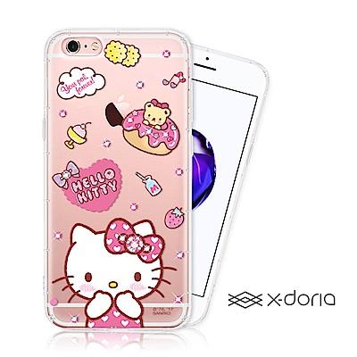 Hello Kitty iPhone 6/6s plus 彩繪水鑽手機空壓殼 -...