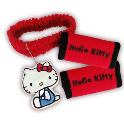 ★享夢城堡★Hello Kitty兜風紅系列-後照鏡套+把手套