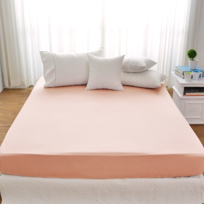 Cozy inn 簡單純色-莓粉-200織精梳棉床包(雙人)