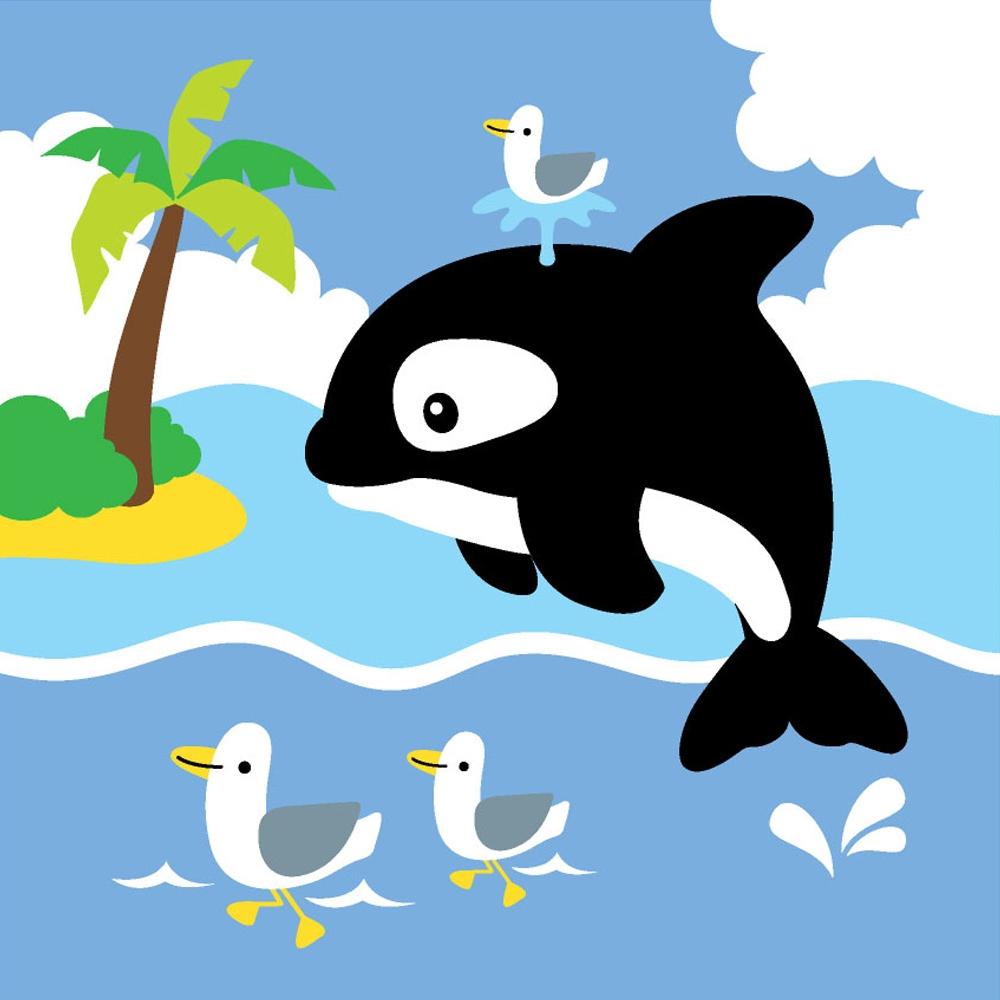 LOVIN 超萌韓版數字油畫 海洋系列可愛小海豚(12) 1幅