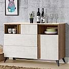 Homelike 米卡4尺餐櫃(含石面)-120x41x84cm