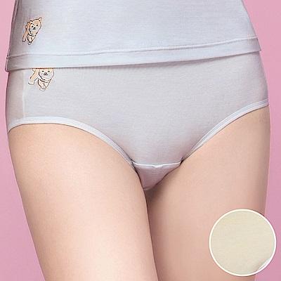 嬪婷 學生內褲 晶球牛奶 M-3L 中低腰生理褲(柔和黃)