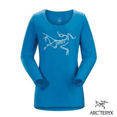 Arcteryx 始祖鳥 24系列 女 有機棉長袖T恤 藍