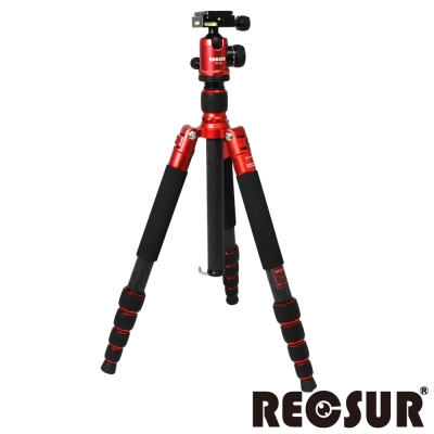 RECSUR 銳攝 RS-3255C+VQ-20 五節反折碳纖維腳架-火熱紅